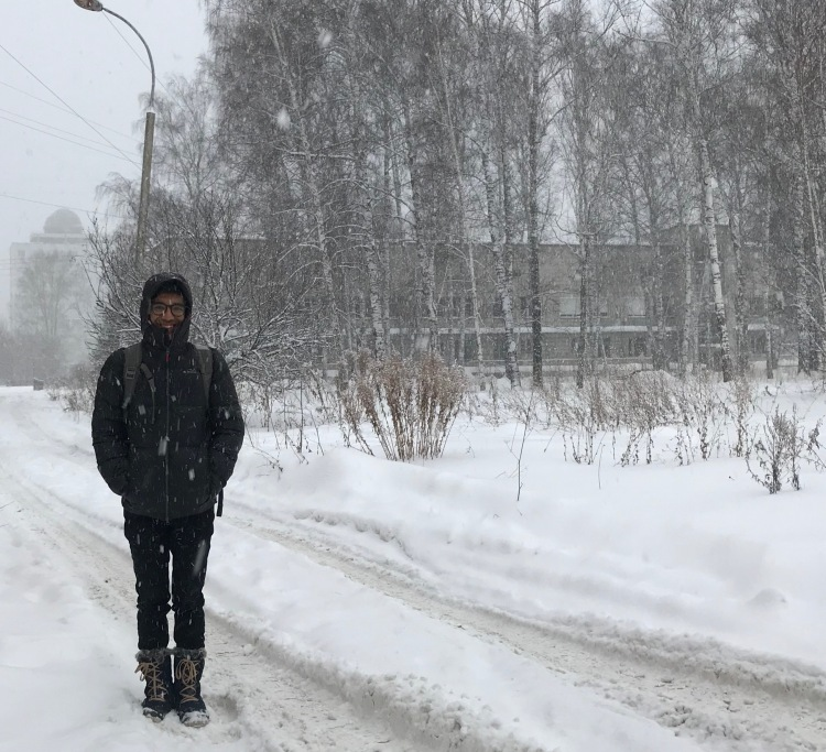 A picture of me in the Siberian snow